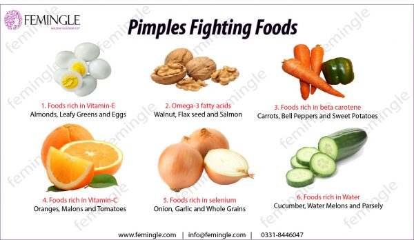 Pimples fighting foods