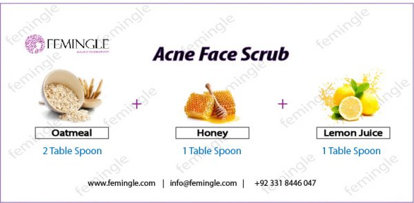 Acne face scrub
