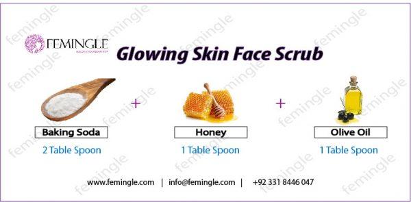 Glowing face scrub